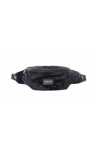 HXTN Bum Bag Crushed Velvet Black