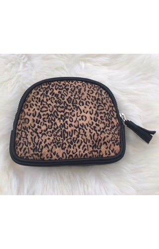 Burkely Furry pouch Leopard