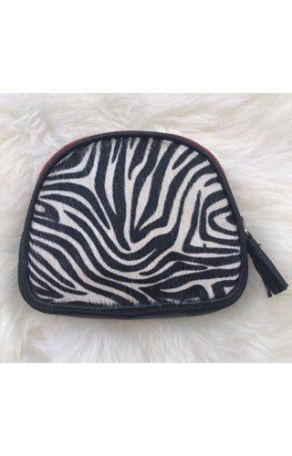 Burkely Furry pouch zebra