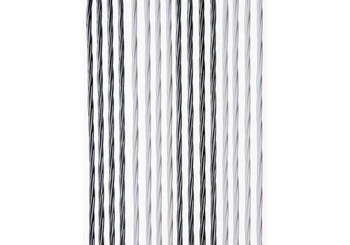 Deurgordijn PVC Licht Grijs - Wit Duo