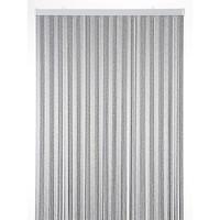 Deurgordijn PVC Licht Zwart - Zilver Duo
