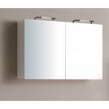 Sem Niagara spiegelkast 120x70x15cm hoogglans wit