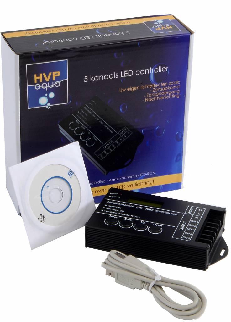 5 channel LED controller Programmable - HVP Aqua For al your ...