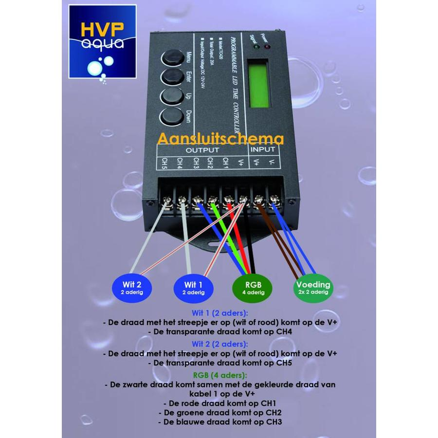 5 kanaals controller Programmeerbaar Aquarium LED