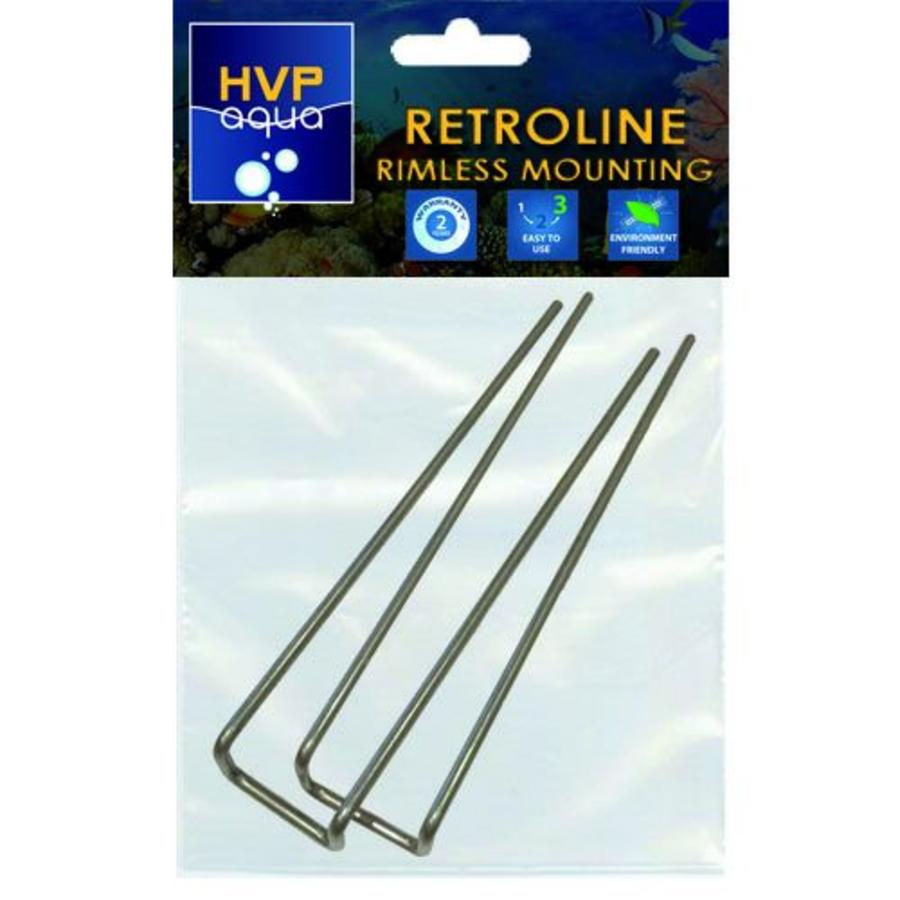 Rimless mounting brackets for RetroLINE-1
