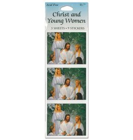 Christ and Young Women stickers