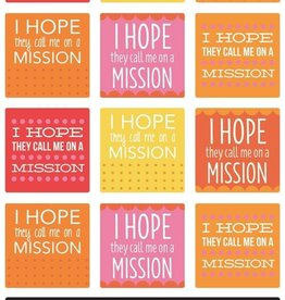 I hope they call me on a mission stickers
