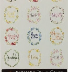 YW values watercolour stickers