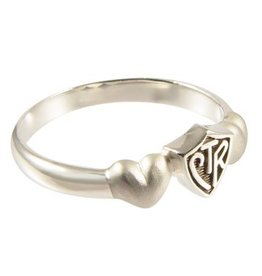 CTR, Satin Hearts Antiqued Sterling Silver