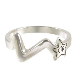 CTR, Shooting Star Antiqued Sterling Silver