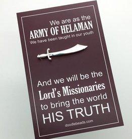 Silver Sword Tie Bar - Army Of Helaman