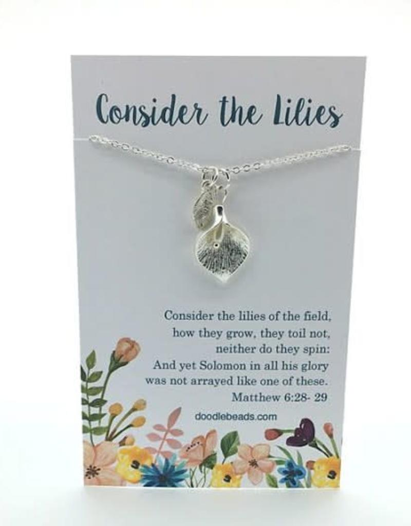 Consider The Lilies Necklace Silver