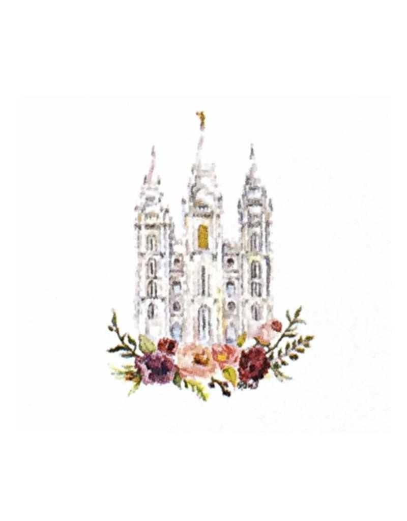 Salt Lake City LDS Temple Watercolor Greeting Card - ldsbookuk.com