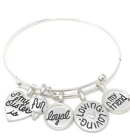 My Loyal Sister Charm Bracelet