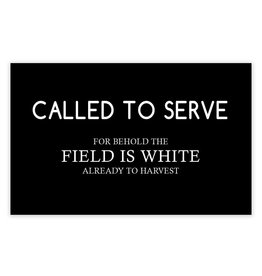 Called To Serve , Recommend Holder