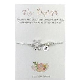 Baptism CTR Charm Style Bracelet