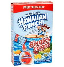 Hawaiian Punch Singles To-Go Drink Mix, Fruity Juicy Red, 1.86 Oz, 8 Portions.