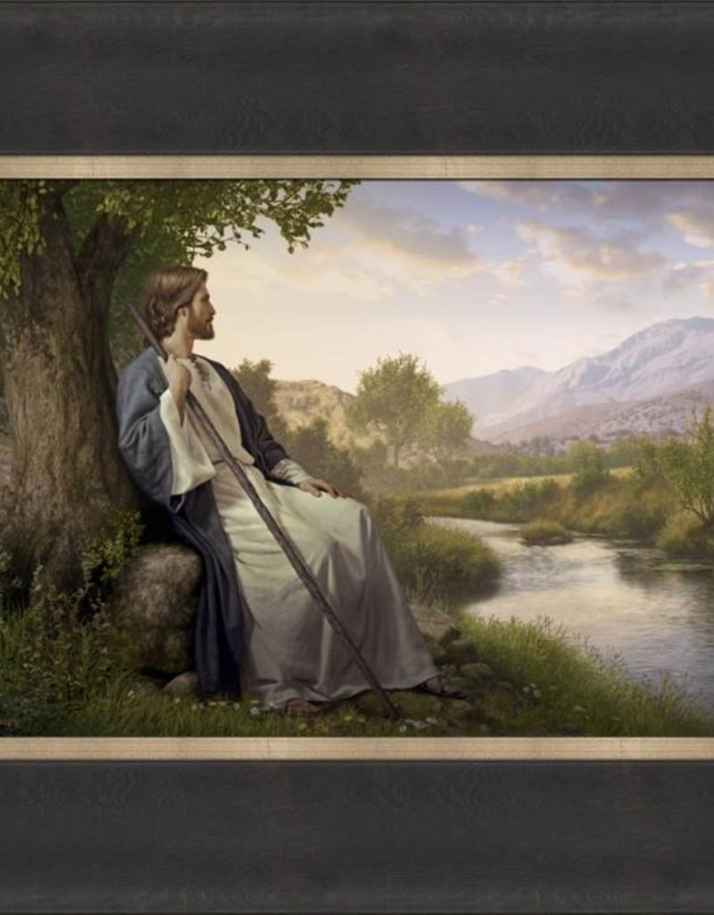 Peace I Leave With You, Simon Dewey,  12x15 framed textured print
