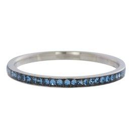 iXXXi Jewelry IXXXI Jewelry Vulring Zirconia Light Saphire Zilverkleurig 2 mm