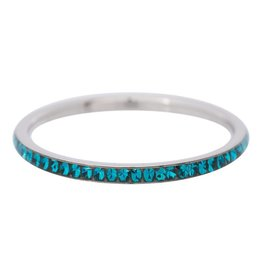 iXXXi Jewelry IXXXI Jewelry Vulring Zirconia Turquoise Zilverkleurig 2 mm