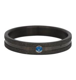iXXXi Jewelry IXXXI Jewelry Vulring Sandblasted Montana Stone Zwart 4 mm