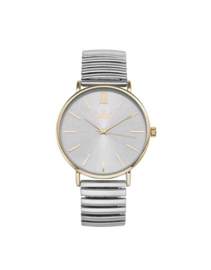 iKKi Horloges iKKi Indy IN04 Zilver/Goud Horloge
