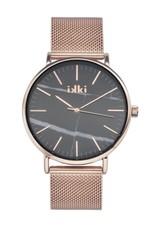 iKKi Horloges iKKi Amelle AM02 Rosé/Zwart Marmer Horloge