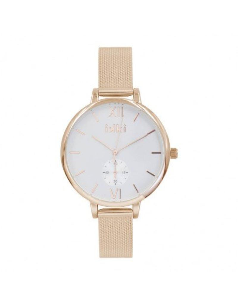 iKKi Horloges IKKI Estelle Rose gold/White Horloge ET-02