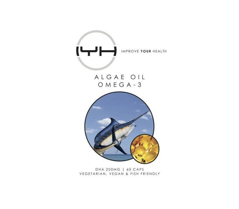 Omega 3 vetzuren DHA uit algen 60 v-caps - Improve Your Health