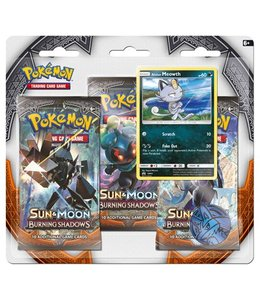 Pokemon Sun & Moon Burning Shadows 3 Booster Blister
