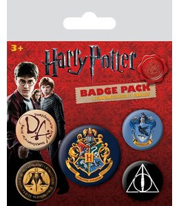 GYE Harry Potter Pin Badges 5-Pack Hogwarts