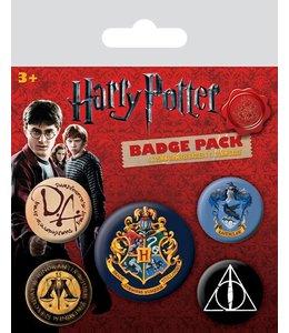 GYE Harry Potter Pin Badges 5-Pack Hogwarts