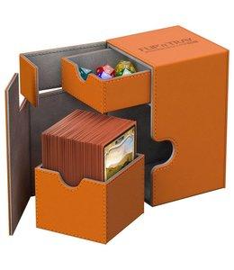 Ultimate Guard Ultimate Guard FlipnTray Deck Case 100+ Standard Size XenoSkin Orange