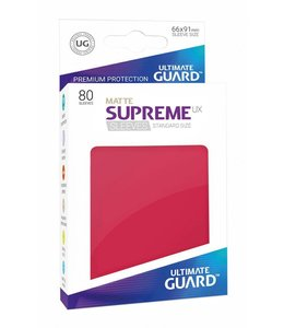Ultimate Guard Ultimate Guard Supreme UX Sleeves Standard Size Matte Red 80