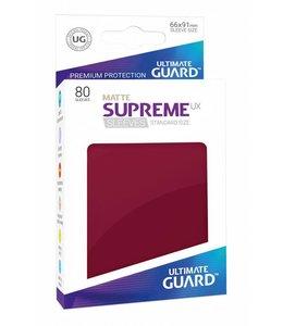 Ultimate Guard Ultimate Guard Supreme UX Sleeves Standard Size Matte Burgundy 80