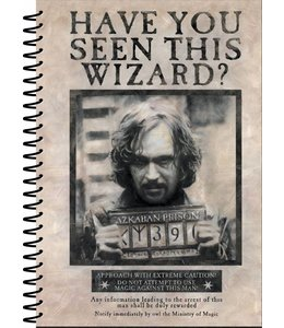 HP merch Harry Potter Notebook A5 Wanted Sirius Black