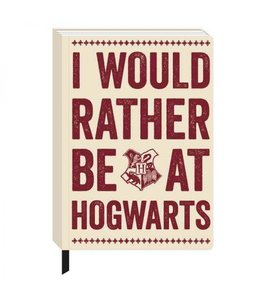 HP merch Harry Potter A5 Notebook Hogwarts Slogan