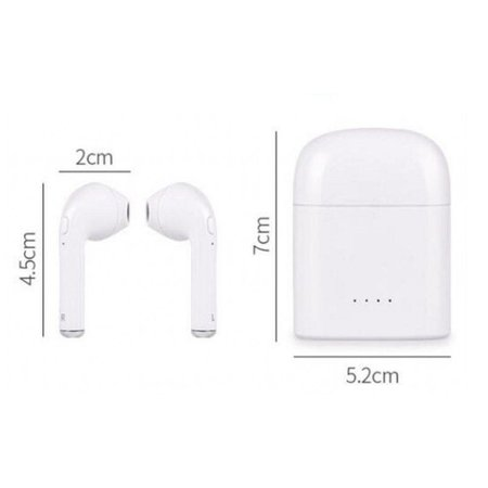 CARAMELLO Draadloze Oortjes - Bluetooth Oordopjes - Wireless Headphone - Koptelefoon voor Apple iPhone 7/8/X, iPad Pro, Samsung S7/S8/Note