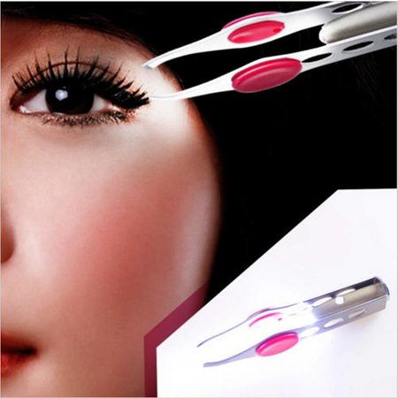 Pincet met Lampje - Tweezer met Led Verlichting - Epileerpincet met Brede Grip