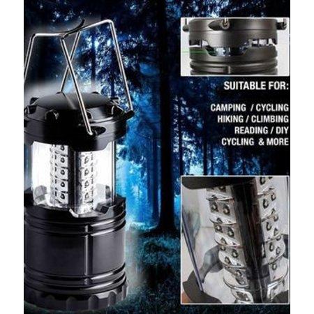 Campinglamp LED – 2 STUKS - Waterbestendig – Ultra Helder – 30 LED Lampjes – Werkt op batterijen – Inklapbaar – Makkelijk mee te nemen of op te bergen – Geschikt voor camping, tuin, ruimtes zonder stroom – Ideaal voor noodgevallen bijv. bij stroomuitval