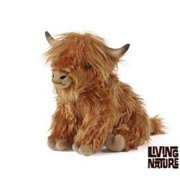 Living Nature Knuffel Koe Highlander, met geluid