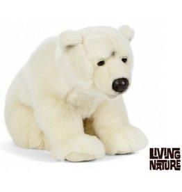 Living Nature Knuffel IJsbeer Extra Groot, 60 cm