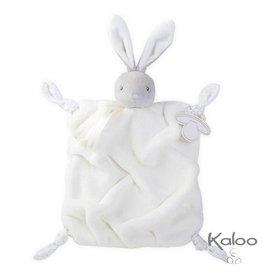 Kaloo Plume Knuffeldoekje konijn wit