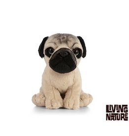 Living Nature Mopshond Knuffel, 15 cm
