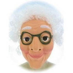 Masker Sarah met wit haar