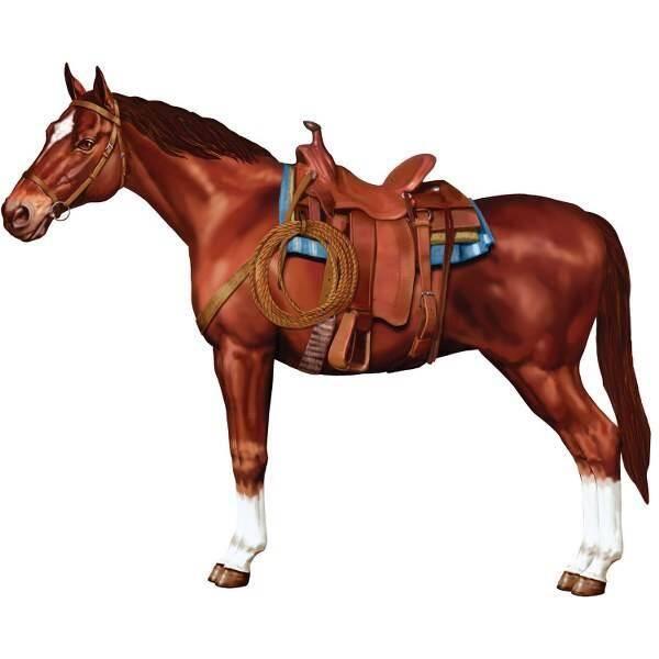 Decoratie paard groot