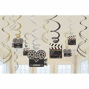 Hangdecoratie Hollywood luxe 12 delig