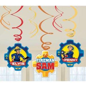 Hangdecoratie Swirl slingers Brandweerman Sam