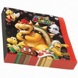 Servetten Super Mario figuren 20 stuks