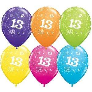 13 jaar ballonnen Qualatex 25 stuks